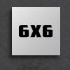 "6"" x 6"""