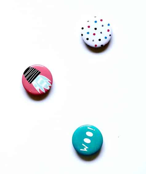 buttons or pins